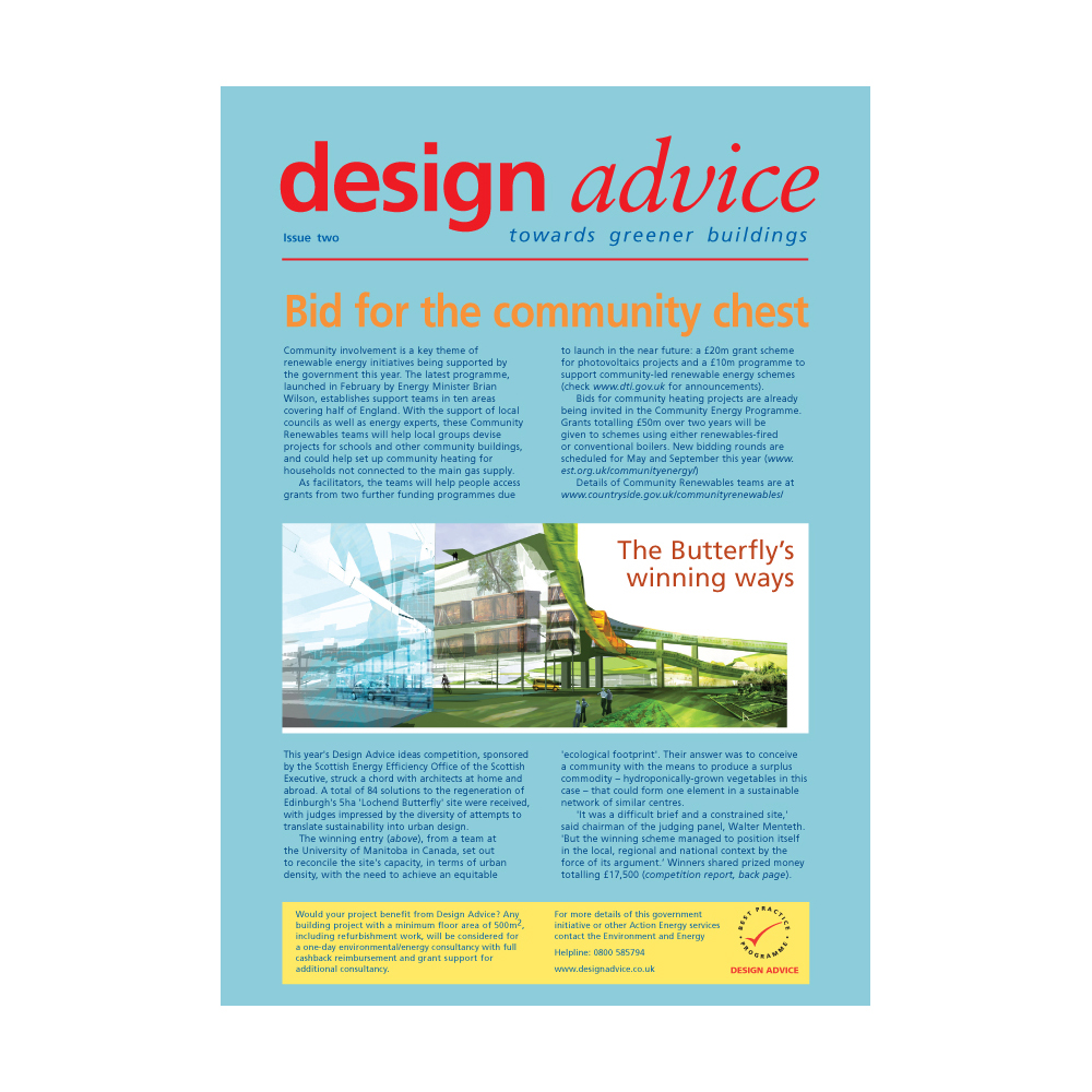 Carbon Trust - Design Advice newsletter