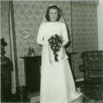 Terri in her wedding dress